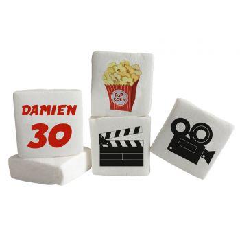48 Guimize carrés personnalisés texte décor cinéma