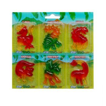 6 Bonbons Dinosaure gélifiées