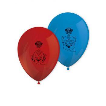 8 Ballons anniversaire Pat Patrouille