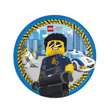 8 Assiettes compostable Lego city