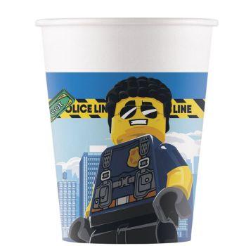 8 Gobelets compostable Lego city