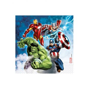 20 Serviettes compostable Avengers