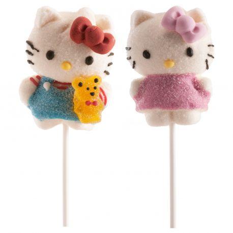 Superbe sucette guimauve en forme de Hello KittyPoids 55 grVendu à l'unité design aléatoire