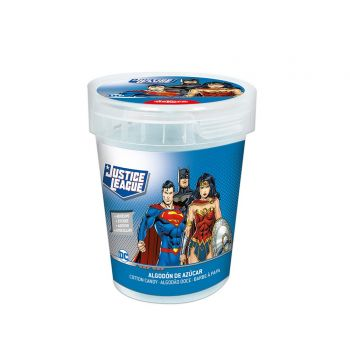 Pot de Barbe à Papa Justice League avec autocollant