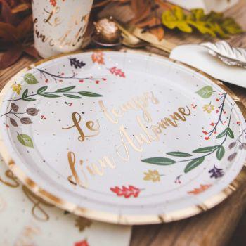 8 Assiettes Le temps de l'automne