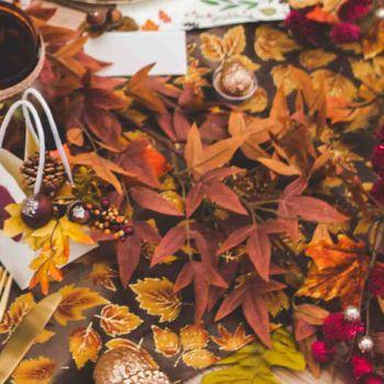 Guirlande de feuilles d'automne 170cm