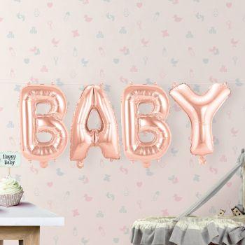 Guirlande de ballons BABY rose