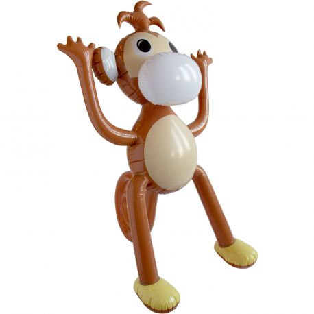 Superbe singe géant gonflable en plastique pour agrémenter un déguisement ou en décoration pour un thème JungleDimensions 120cm