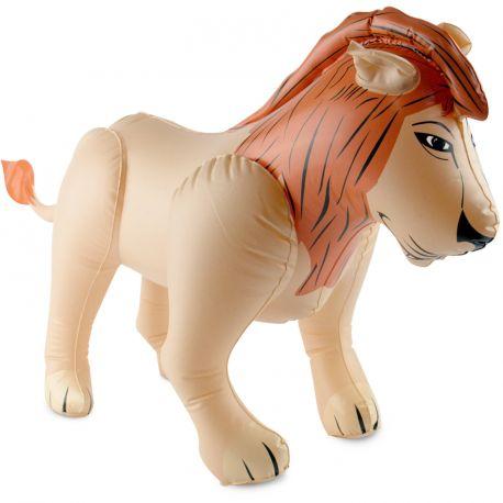 Superbe Lion géant gonflable en plastique pour agrémenter un déguisement ou en décoration pour un thème JungleDimensions 80cm