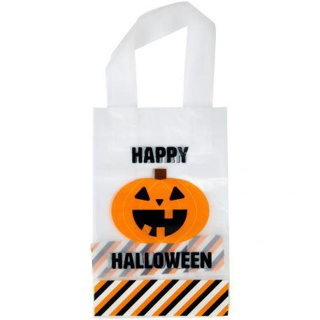 Récoltez vos bonbons d'Halloween dans ces sachets à confiserie pratiques de chez Wilton. Un motif d'Halloween avec citrouille est...