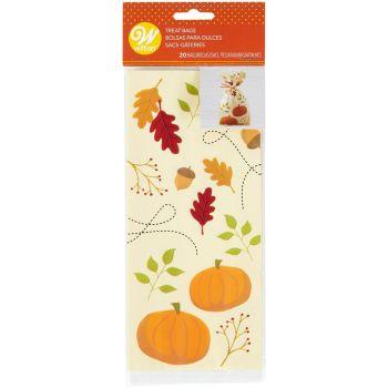 20 sachets à bonbons automne Wilton