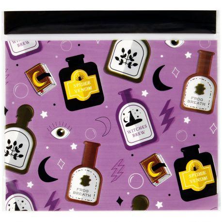 20 Superbes sachets en plastique refermable décor potion de sorcier de la marque WiltonTaille : env. 17 x 18...