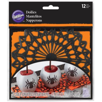 12 Mini napperons toiles d'araignée Wilton