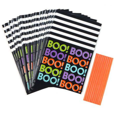 Que serait Halloween sans bonbons ? Emballez vos bonbons dans ces amusants sachets à confiserie Boo de Wilton.Taille : env. 10 x...
