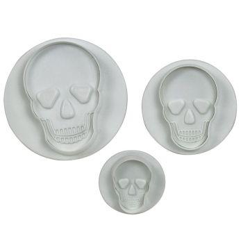 Kit 3 Emporte pièces éjecteurs Crâne
