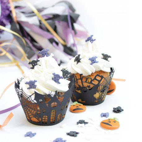 Habillez vos cupcakes d'un joli et délicat contour noir pour Halloween!12 contours livrés dans une...