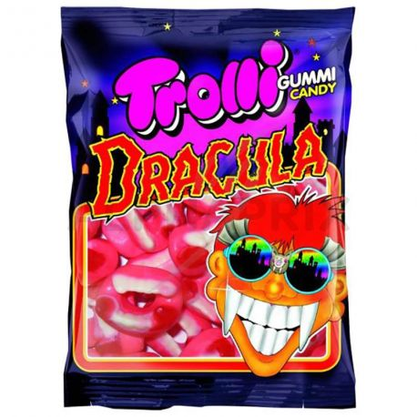 Sachet de 100grde bonbons gélifiésen forme de dent de Dracula idéal pour Halloween