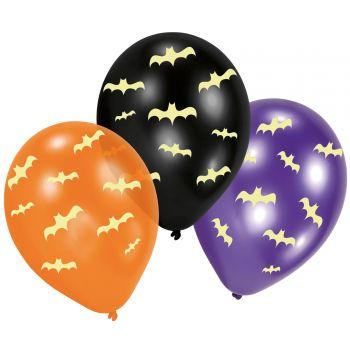 6 Ballons Halloween phosphorescent