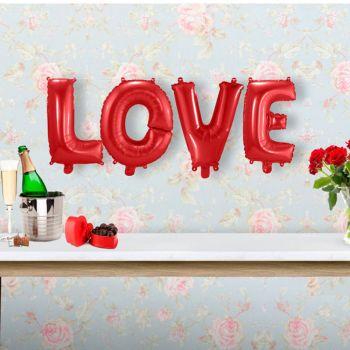 Guirlande de ballons LOVE rouge