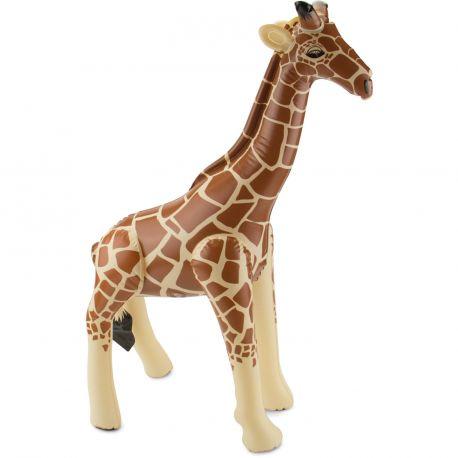 Superbe Girafe géant gonflable en plastique pour agrémenter un déguisement ou en décoration pour un thème JungleDimensions 74 x 65cm