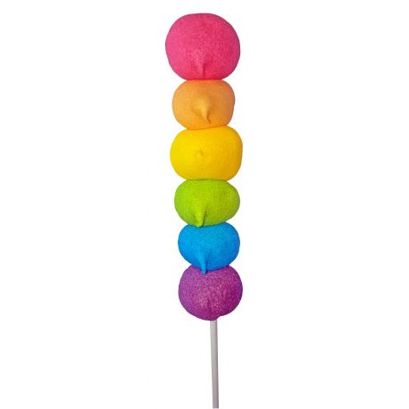 Superbe brochette de marshmallow multicolore pour vos candy bar d'anniversaireVendu à l'unitéDimensions : Ø4cm x 27...