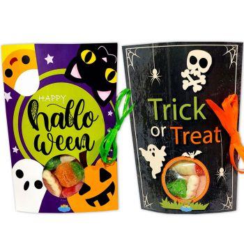 Paquet de bonbons cartonné Halloween