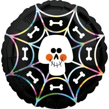 Ballons helium squelette irisé