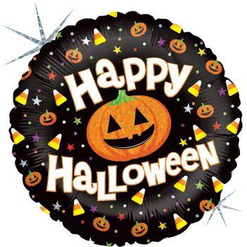 Ballon hélium Happy Halloween confiseries