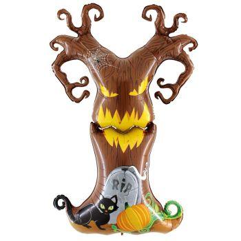Ballon alu maxi arbre Halloween