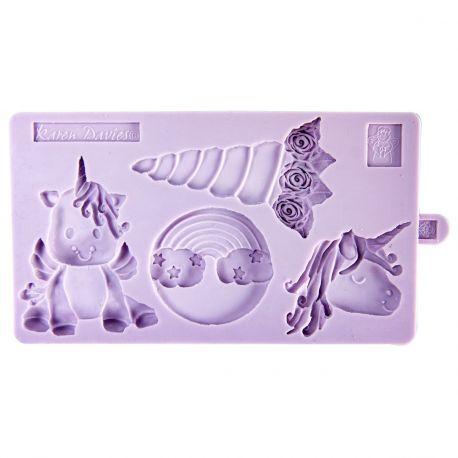 Moule à modelage en silicone de la marque Karen Davies pour réaliser des modelage de licorneA utiliser avec pâte à sucre, pâte...