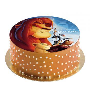 Disque azyme Roi Lion sans sucre 20cm