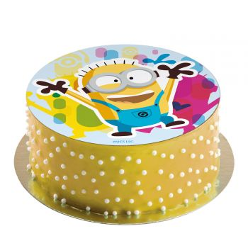 Disque azyme Minions cartoon sucre 20cm