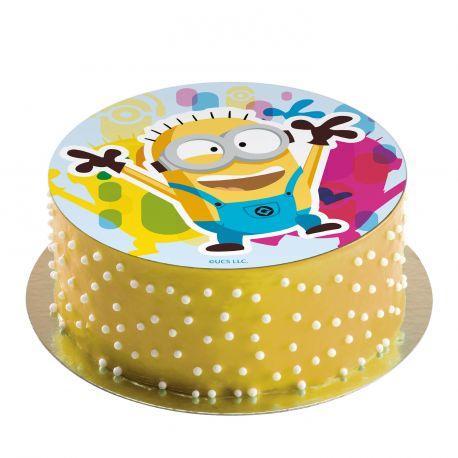 Disque comestible spécialement conçu pour réaliser un magnifique gâteau sur le thème des Minions !Il suffit de le poser tout...