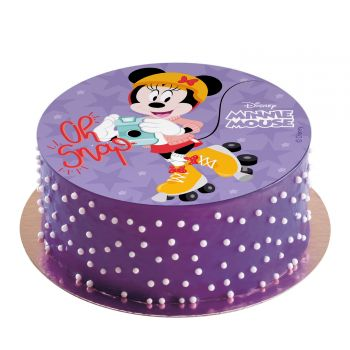 Disque azyme Minnie shoot sans sucre 20cm