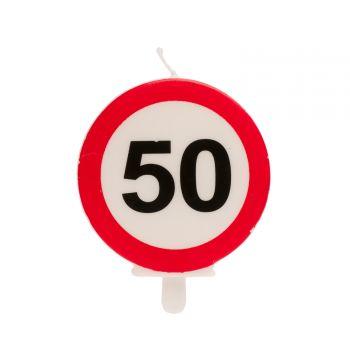 Bougie Panneau 50 pour gateau