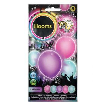 5 Ballons lumineux pastel