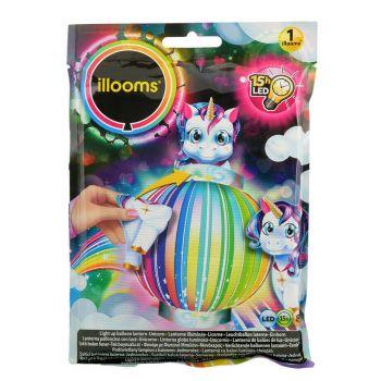 1 Kit Ballon lanterne lumineux licorne