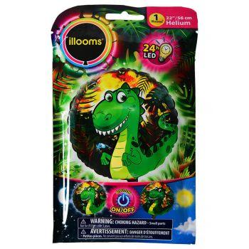 1 Ballon hellium Dinosaure lumineux