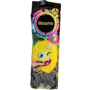 1 Ballon Illoomicons lumineux jaune