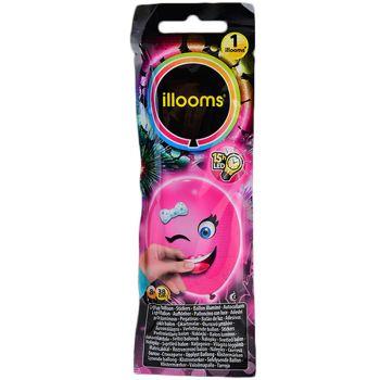 1 Ballon Illoomicons lumineux rose