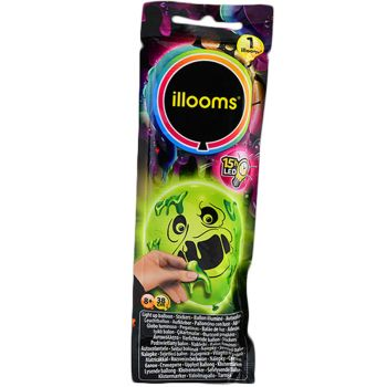 1 Ballon Illoomicons lumineux vert