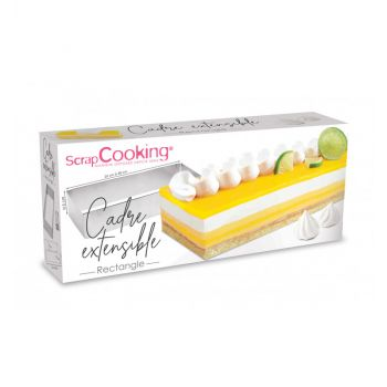 Cadre pâtissier rectangle extensible inox Scrapcooking