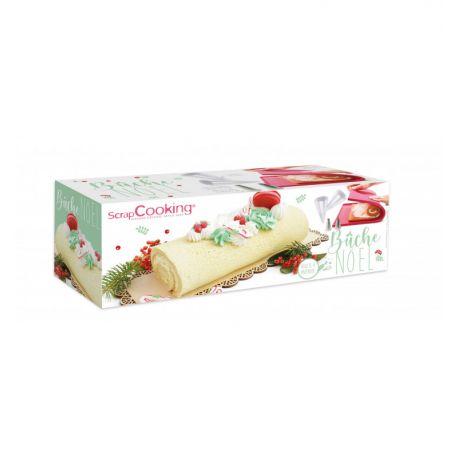 Ce pack de la marque Scrapcooking contient tout le nécessaire pour réaliser une bûche roulée de Noël :Tapis génoise : Matière :...