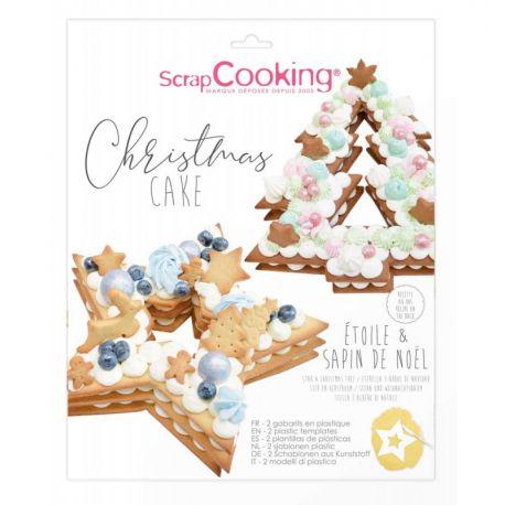 Envie d'un gâteau de Noël façon number cake ?Délicieux, léger et tendance le Christmas cake sera parfait grâce à ces 2 gabarits...