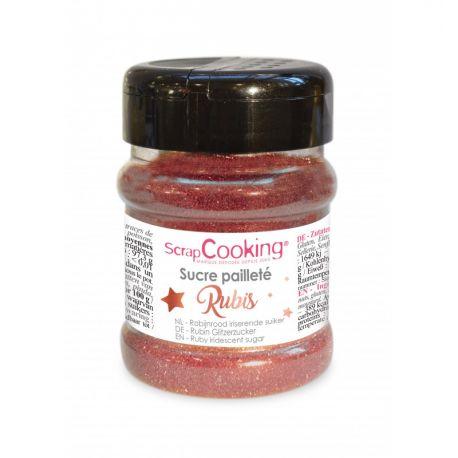 ScrapCooking® propose ce sucre rubis pailleté dans un pot refermable pour embellir vos gâteaux, biscuits, cupcakes… Avec les décors...