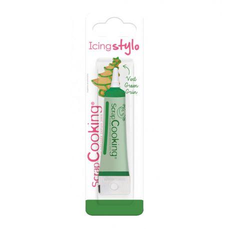 Grâce à ce stylo de couleur vert décorez et personnalisez vos desserts !Réalisez des messages ou des décors pour un anniversaire...