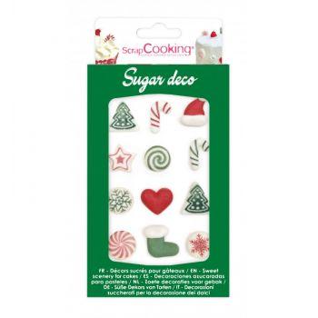 12 Décors sucre Noël Scrapcooking