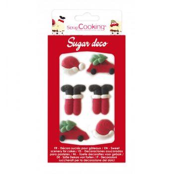 12 Décors sucre Père Noël Scrapcooking