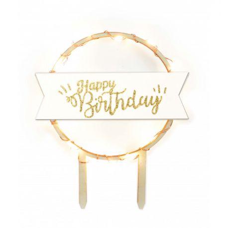 Scrapcooking illumine vos plus jolis gâteaux d'anniversaire grâce à ce cake topper lumineux Happy Birthday associant la...