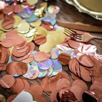 Confettis métallisés gold rose 36gr